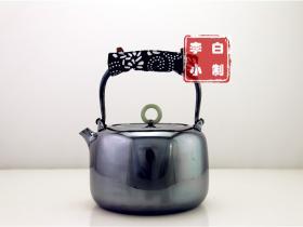 李小白 银壶 纯银999烧水壶 银壶烧水壶 烧水银壶 银壶 一张打