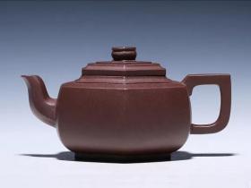 范科锋紫砂壶作品六方雪华