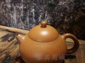 汤宣武紫砂壶作品文旦黄金段泥