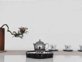 银壶纯银纯手工玉把龙蛋囗打出小泡茶壶