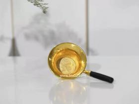 纯金锤纹茶漏