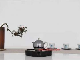 银壶手工纯银999玉把龙蛋口打出小泡茶壶