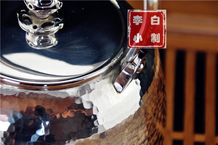 李小白银壶 纯银银壶 纯银壶9999烧水银壶 云南手工银壶 日本银壶