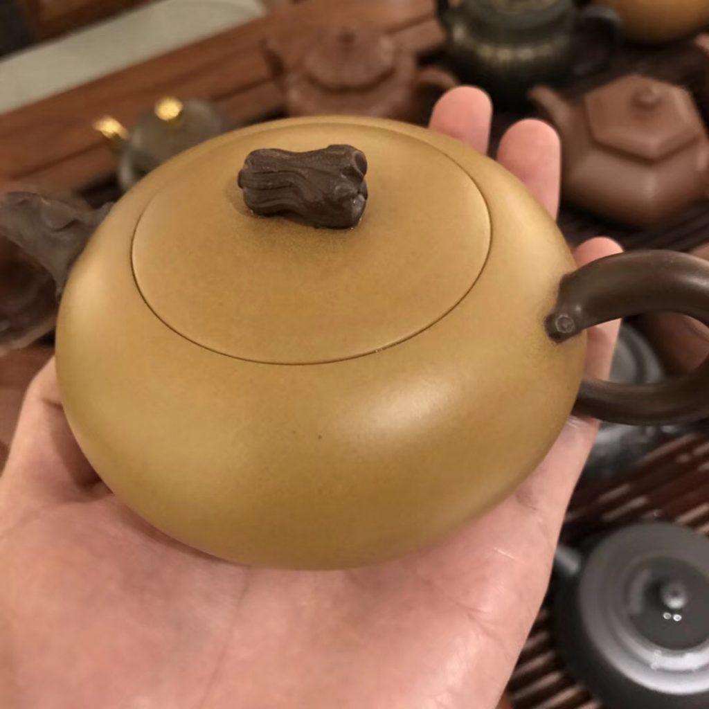 徐飞紫砂壶·升官发财 原矿段泥&紫泥 双色壶