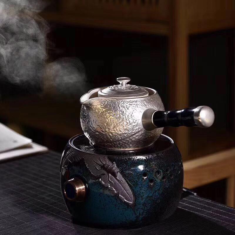 鎏银煮茶让茶更甘甜可口