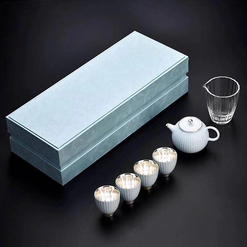 台湾均陶鎏银高端茶器