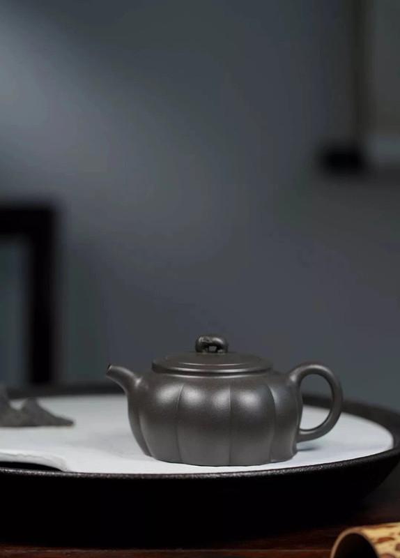 徐飞紫砂壶作品金瓜