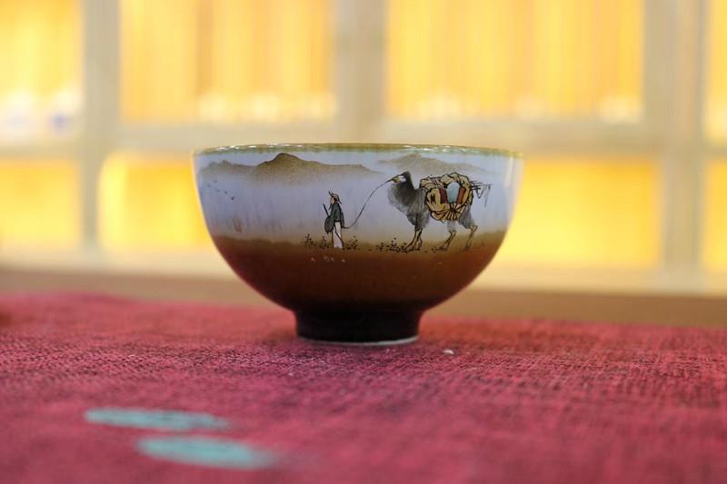 杯子控们的福利来啦三木堂手绘柴烧杯