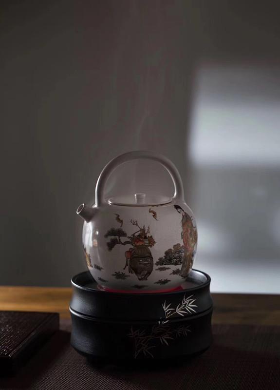 范年丰作品麻姑献寿全手绘粉彩系列