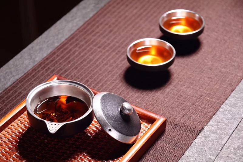 台湾晓宇鎏银茶具快克杯