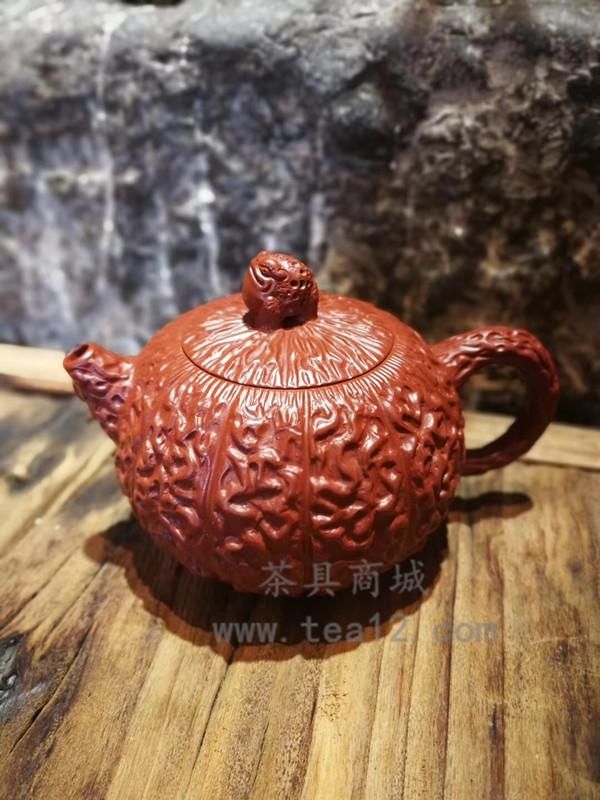 范君华紫砂壶作品金刚菩提核桃壶大红袍泥料