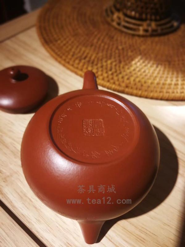 汤宣武紫砂壶作品原矿大红袍西施