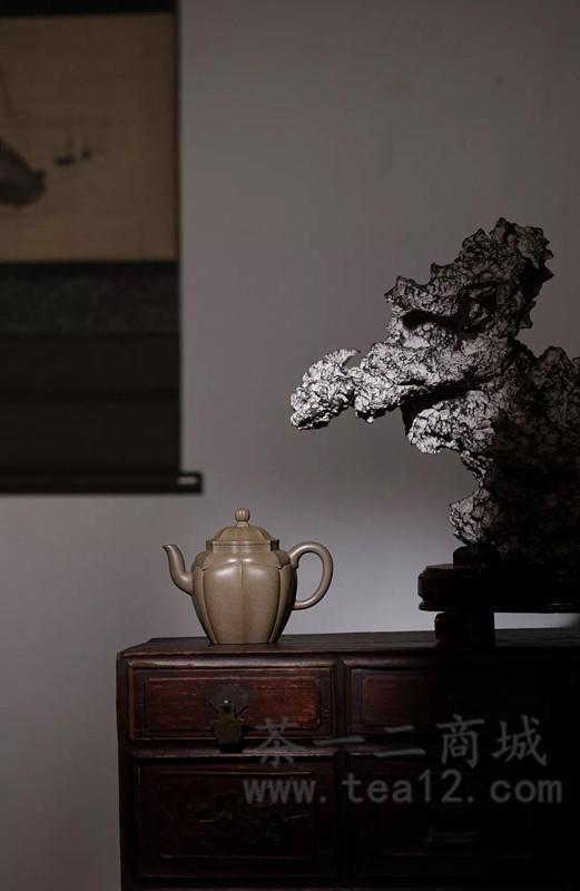 范泽锋紫砂壶作品禅墩·爱莲