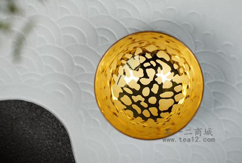 范泽锋青瓷刻金釉天目盏