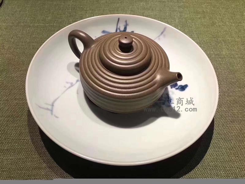 汤宣武紫砂壶作品葫茄十八拍