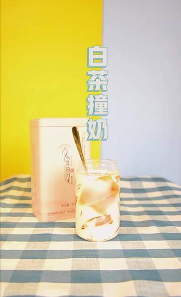 白茶撞奶当年的月光白茶调饮视频