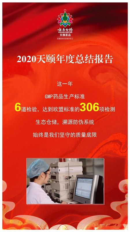 云南白药天颐茶品2020年度总结报告