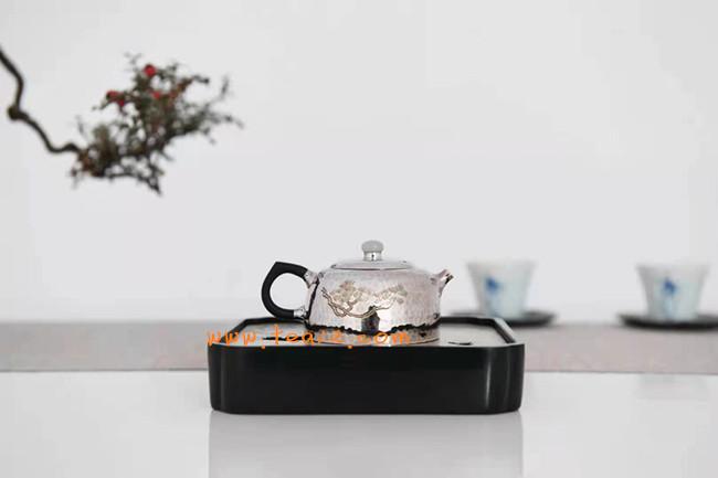 手工银壶一张打曼生苍松泡茶壶价格及银壶图片