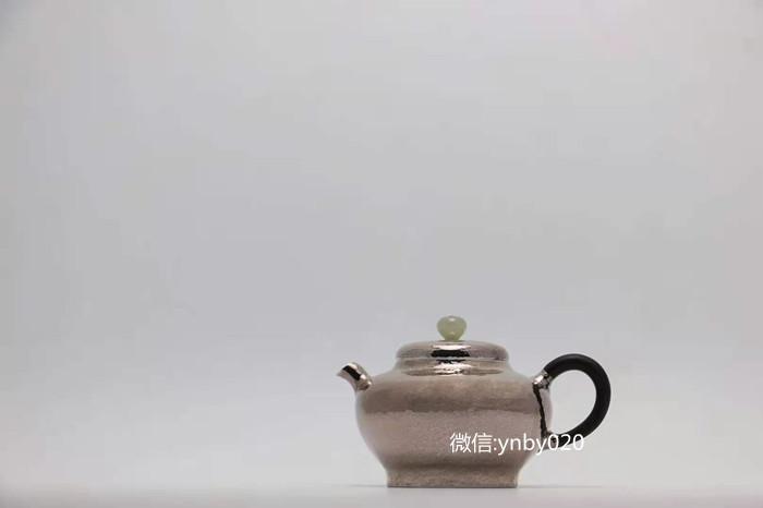 虚扁泡茶银壶