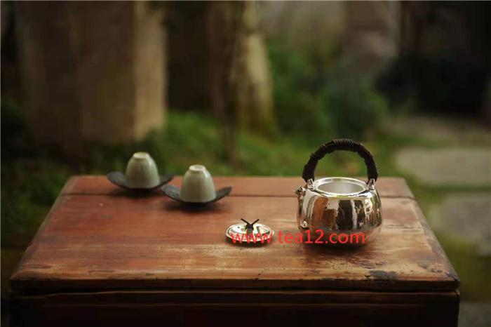 银壶手工纯银山藤苹果口打出泡茶壶