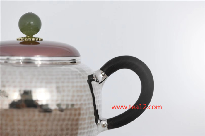 银壶手工铜包银盖齐锤纹可爱到把它捧在手心