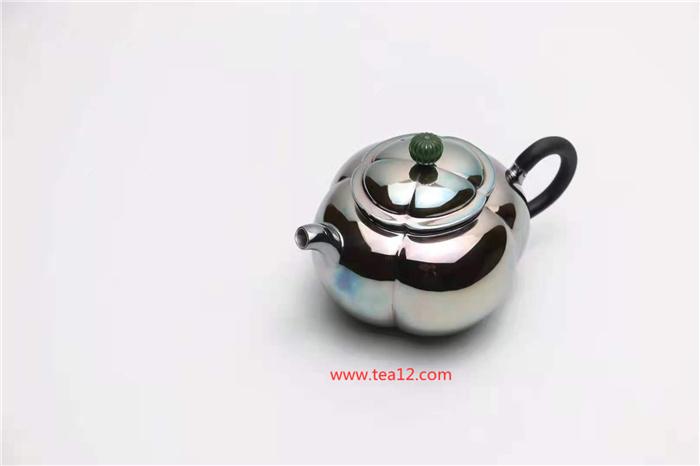 银壶如意花瓣泡茶壶