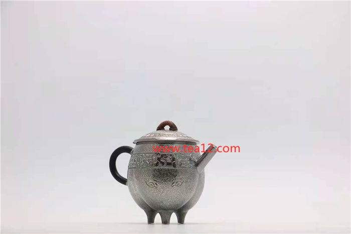 银壶三足鼎兽纹冲茶小泡壶