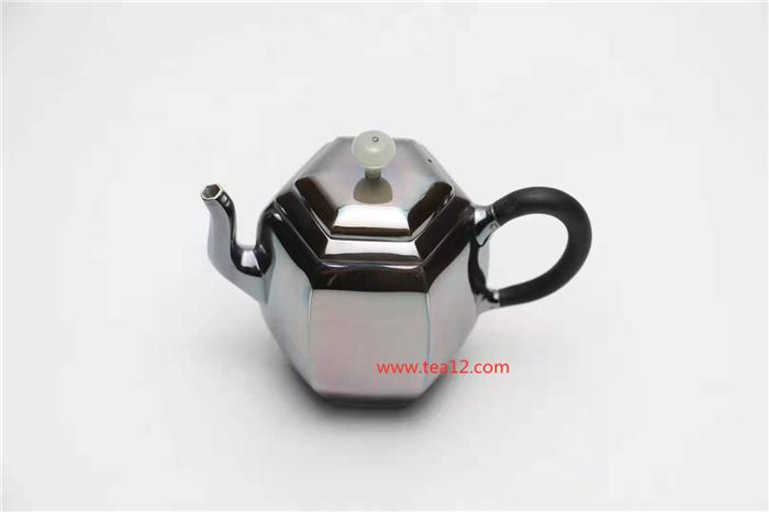 银壶六方宫灯小泡茶壶