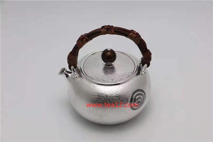 银壶若雪如意结泡茶壶